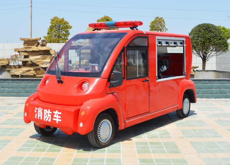 2 seat electric fire trucks (with water tank)