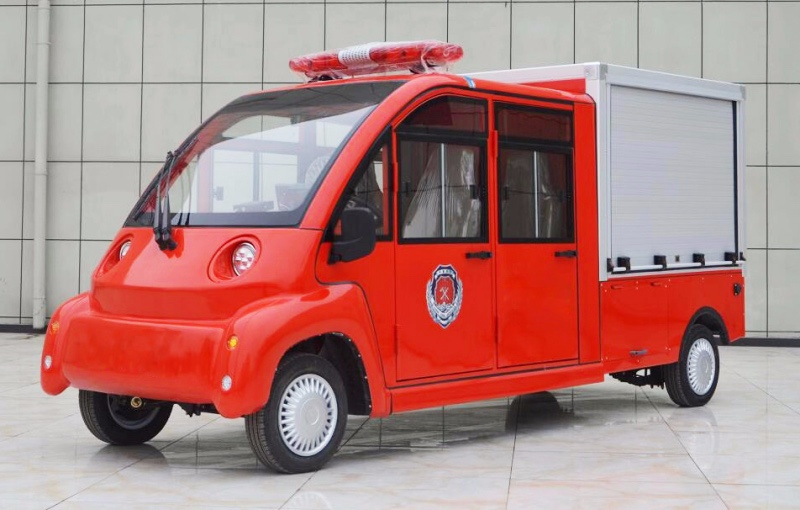 4-5 seat double row electric fire truck