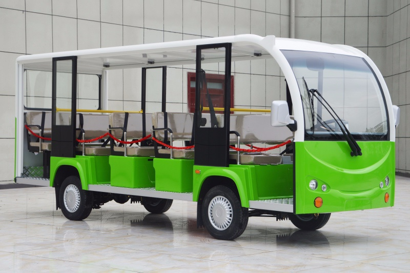 2018 classic white-green electric sightseeing bus