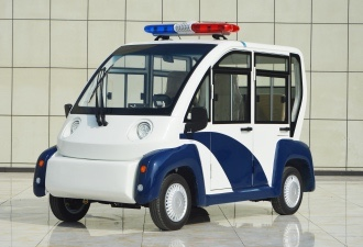 Glass reinforced plastic four-seat closed patrol car