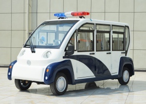 Glass reinforced plastic six-seat closed patrol car